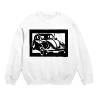 Volkswagen ビートル切り絵デザイン Sweats