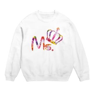カップルコーデ トレンドの花柄ファッション「Ms.」レディース ピンク Sweats