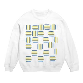 yuruholismの青と黄色の幾何学模様 ブルーとイエロー Sweats