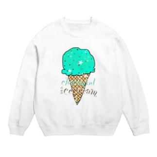 なでしこ@デザインのチョコミントアイスクリーム Sweats