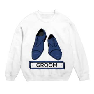 ペアTシャツ屋のシバヤさんのペア(GROOM)シューズ_ブルー Sweats