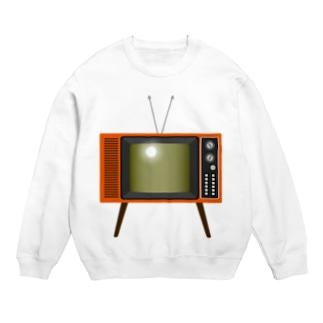 illust_designs_labのレトロな昭和の可愛いテレビのイラスト 脚付き  Sweats