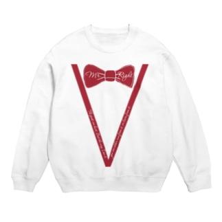 臙脂色蝶ネクタイVライン フォーマル風ファッション Sweats