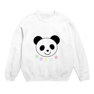 Yuuオリジナルイラスト25 パンダと5色の星 Sweats