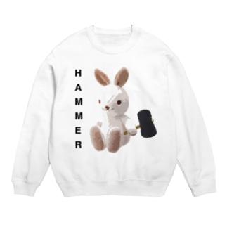 HAMMER/スウェット/白うさぎ Sweats