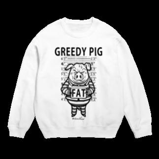 TOMOKUNIのGREEDY PIGスウェット