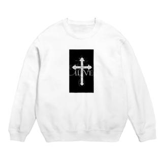 十字架ブラック/ブラック Sweats