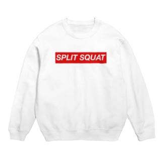 SPLIT SQUAT 赤BOXロゴ Sweats