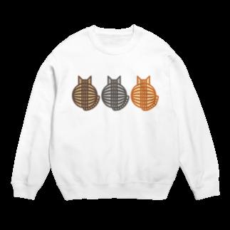 SHOP W SUZURI店の猫(3匹)の丸い背中 スウェット Sweats