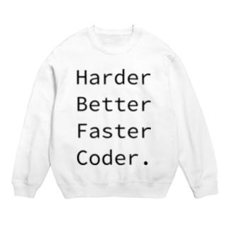 Harder Better Faster Coder. (Source Code Pro ver.) Sweat