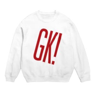 GK!ロゴ(赤) スウェット