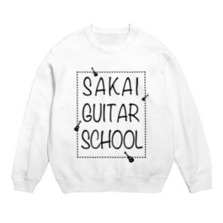 SAKAI GUITAR SCHOOL 黒文字 Sweats