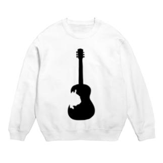 フレンチブルドッグとギターのシルエット Sweats