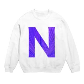 N ロゴ黒色 Sweats