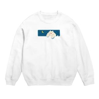 ねこ fat cat and moon Sweats