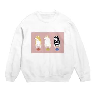 いぬころ@柴犬屋のご飯を待つ柴犬たち(ピンク色) Sweats