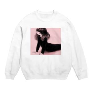 ストレッチする人の絵のTシャツ Sweats