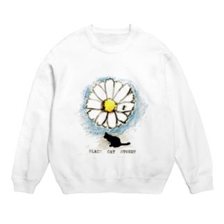BLACK CAT STREET flower ant  T-shirt Sweats