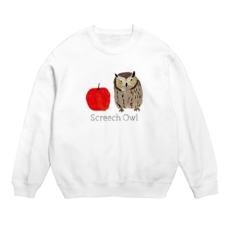 フクロウとリンゴ Sweats