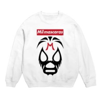 MIL MASCARAS-ミル・マスカラス-赤ボックスロゴ Sweats
