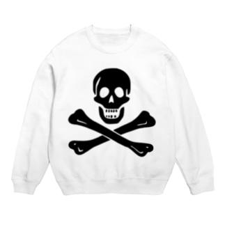海賊旗スカル-Jolly Roger サミュエル・ベラミーの海賊旗-黒ロゴ Sweats