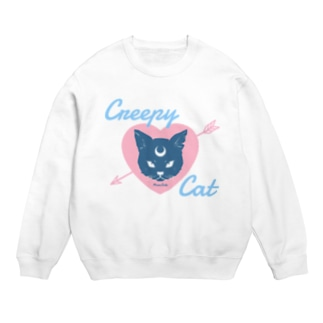【MOON SIDE】 Creepy Cat #Pink*Blue Sweats
