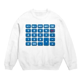 電卓blue スウェット