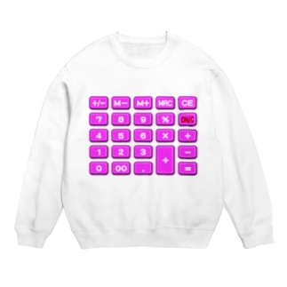 電卓pink スウェット