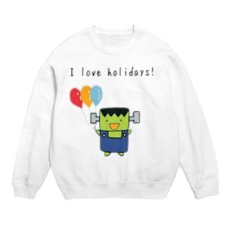 I love holidays! ふらんけん君 Sweats