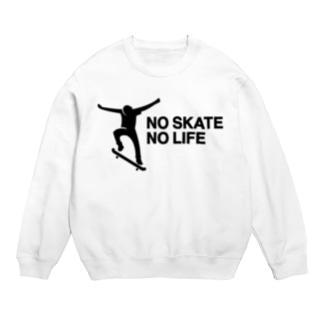 NO SKATE NO LIFE 黒ロゴ Sweats