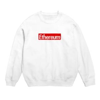 Ethereum ストリート定番の赤に白抜き Sweats