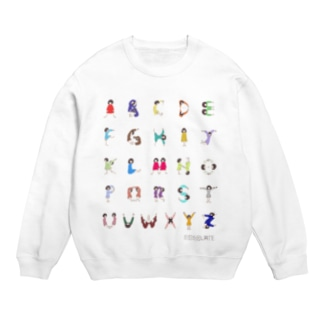 Alphabet Tシャツ(文字大ver.) スウェット