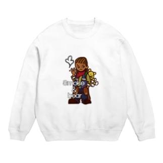 オリジナルデザインTシャツ SMOKIN'のクマを背負ったボヘミアンA Sweats