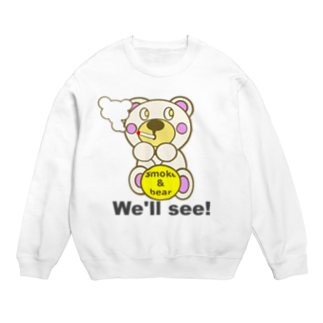 オリジナルデザインTシャツ SMOKIN'の一服モクモックマ  白 Sweats