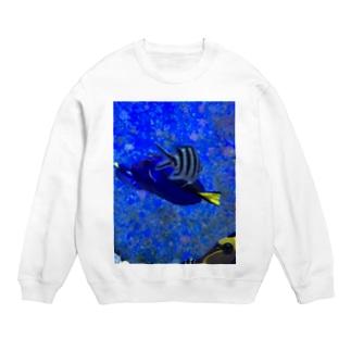 交差する魚 スウェット
