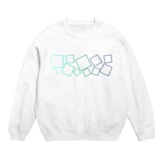 緑色のグラデーションの四角形 Sweats