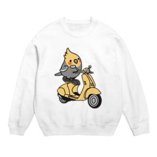 Chubby Bird バイクに乗ったオカメインコ Sweats