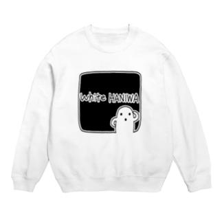白いハニワ【ゆるロゴ(ブラック)】 Sweats