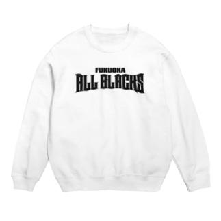 福岡オールブラックスのチームロゴ(黒) Sweats