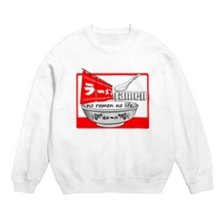 ラーメンTシャツ(魂の一杯:赤) Sweats