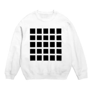 黒マス黒マス(Optical illusion) Sweats