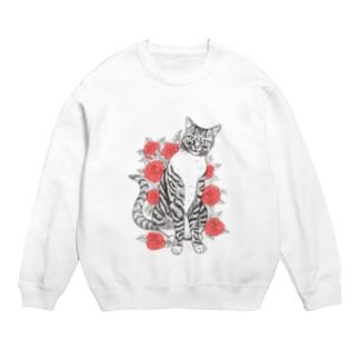 猫とバラ Sweats