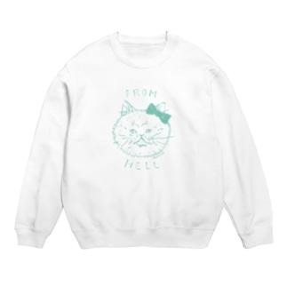 ねこ from hell (green) Sweats