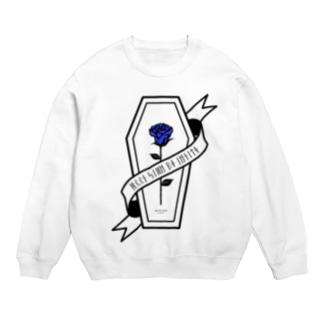 【MOON SIDE】Rose Coffin Ver.1 #Black Blue Sweats