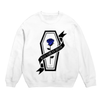 【MOON SIDE】Rose Coffin Ver.2 #Black Blue Sweats