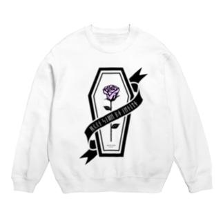 【MOON SIDE】Rose Coffin Ver.2 #Black Purple Sweats