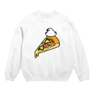 ピザで暖をとる文鳥 スウェット