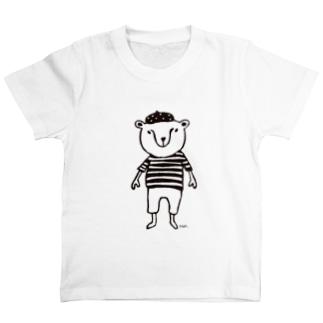 CUROGNACのくまきち(ベレーボーダー) T-shirts