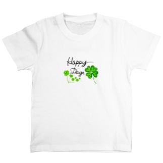 たくさんクローバーでHappy T-shirts