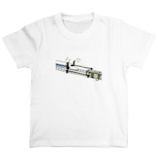 すれ違う新幹線と電車!? T-shirts
